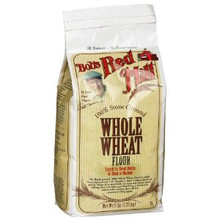 100% Stone Ground Whole Wheat Flour 4 Pack 5 lbs (2.26 kg) From Bob's Red Mill