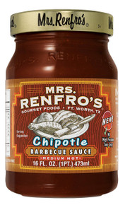 BBQ,Chipotle,Medium Hot 6 of 16 OZ By MRS RENFRO`S