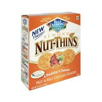 Almond Nut-Thins Cheddar Cheese 12 Pack 4.25 oz (120.5 g) From Blue Diamond