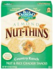 Almond Nut-Thins Nut & Rice Cracker Snacks Country Ranch 12 Pack 4.25 oz (120.5 g) From Blue Diamond