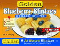 Blueberry 6 Filled Crepes 12 of 13 OZ Golden