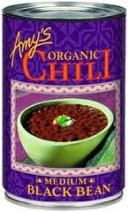 Organic Chili Black Bean Low Fat Medium 12 Pack 14.7 oz (416 g) From Amy's