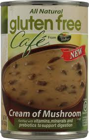 Gluten Free Cafe Cream of Mushroom Soup 12 Pack 15 oz (425 g) From Health Valley