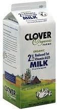 2% Reduced Fat 6 of 64 OZ CLOVER ORGANIC FARMS