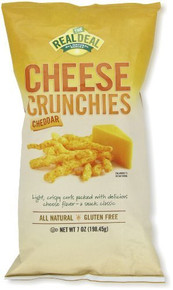 Cheddar Cheese Crunchies 12 of 7 OZ By REAL DEAL ALL NATURAL SNACKS
