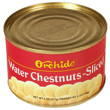 Orchids Water Chestnuts Sliced 8 oz  From Orchids