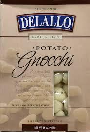 Potato Gnocchi 12 Pack 16 oz (454 g) From De Lallo