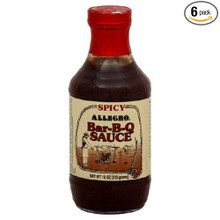 BBQ Sauce Spicy 6 of 18 OZ By ALLEGRO