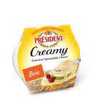 Creamy Gourmet Spreadable Brie 8 of 5 OZ By PRESIDENT