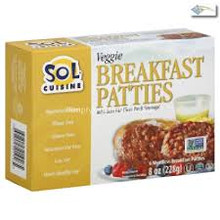 Veggie Breakfast Patties 12 of 8 OZ Sol Cuisine