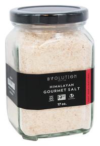 Fine Grind Glass Jar 17 OZ By EVOLUTION SALT CO