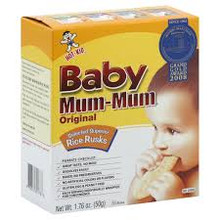 Baby Mum-Mum Original Rice Rusks 6 Pack 24 Rusks 8 g Each From Hot Kid
