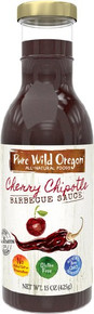 BBQ Sauce Cherry Chipotle 6 of 12 OZ By PURE WILD OREGON