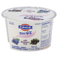 Blueberry Acai 0% 12 of 5.3 OZ Fage