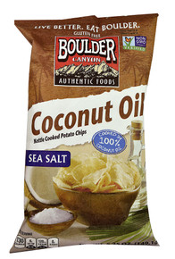 Coconut Oil Sea Salt 12 of 5.25 OZ By BOULDER CANYON