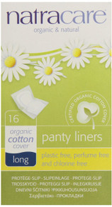 Panty Liners Long Wrapped 16 CT From NATRACARE