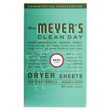 Dryer Sheets Honeysuckle 12 of 80 CT By MRS MEYERS CLEAN DAY