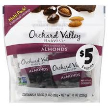 Almonds Dk Chocolate Covered 8 of 8 OZ By ORCHARD VALLEY HARVEST