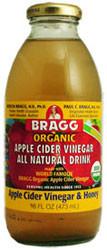 Apple Cider Vinegar & Honey, 12 of 16 OZ, Bragg