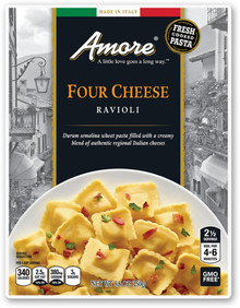 Four Cheese Ravioli 6 of 8.8 OZ By AMORE