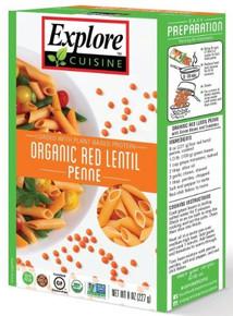 Red Lentil Penne 6 of 8 OZ By EXPLORE CUISINE
