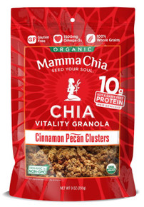 Chia,Cluster,Cinnamon Pecan 6 of 9 OZ By MAMMA CHIA