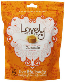 Chewy Caramels Original 12 of 6 OZ By LOVELY CANDY CO