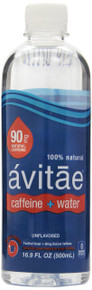 Caffeinated Water 90mg Single 12 of 16.9 OZ By AVITAE