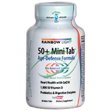 50 + Mini Tab Age-Defense Formula  90 Mini-Tabs From Rainbow Light