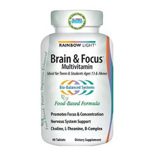 Brain & Focus Multivitamin 90 Tablets Rainbow Light