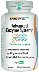 Advanced Enzyme System 120 + 60 Free Vcaps From Rainbow Light