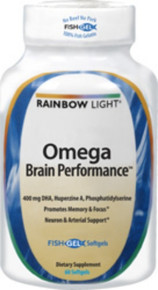 Omega Brain Performance 60 Softgels Rainbow Light