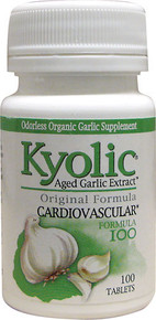 Aged Garlic Extract Cardiovascular Hi-Po Formula 100 100 Capsules  From Wakunaga Kyolic