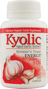 Kyolic Aged Garlic Extract Energy Formula 101 A.G.E with Brewers Yeast 100 caps Wakunaga Kyolic