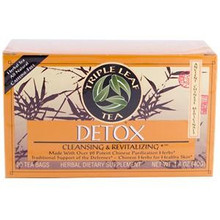 Detox Green Tea 20 Tea Bags 1.4 oz 40 g 6 Pack From Triple Leaf Tea