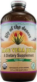 Aloe Vera Juice Preservative Free 32 oz Lily Of The Desert