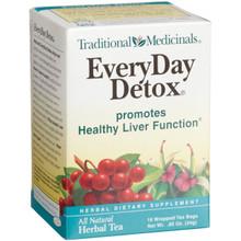 EveryDay Detox Tea 6 x 16 Tea Bags From Traditional Medicinals