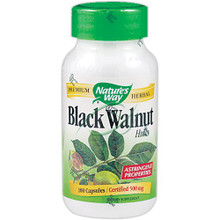 Black Walnut Hulls 100 Capsules 500 mg From Nature's Way