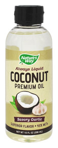 Coconut Oil Savory Garlic 10 OZ By Nature'S Way