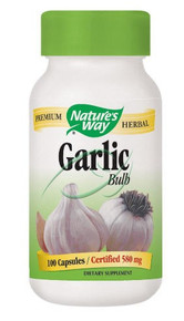 Garlic Bulb 580 mg 100 Capsules From Nature's Way