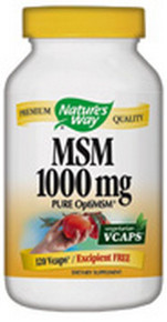 MSM 1000mg 120 vegicaps from Nature's Way