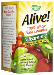 Alive 100% Vitamin C 120 Vegetarian Capsules From Nature's Way