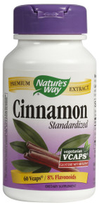 Cinnamon Standardized 60 Vcaps From Nature's Way