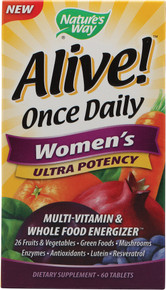Alive! Once Daily Women's Multi-Vitamin 60 Tablets Nature's Way
