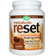 Nature's Way Metabolic Reset Hunger Control Weight Loss Shake Powder Chocolate 1.4 lbs (630 g)