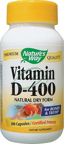 Vitamin D-400 100 Capsules 400 IU D 400 From Nature's Way