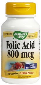 Folic Acid 800 Mcg 100 Capsules From Nature's Way
