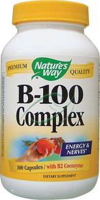 B-100 Complex with B2 Coenzyme 100 Capsules B 100 Complex From Nature's Way