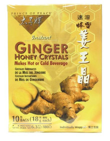 Ginger Honey Crystals with Lemon Sachets 10 CT From PRINCE OF PEACE