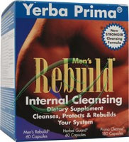 Men's Rebuild Internal Cleansing 3 Part Program From Yerba Prima